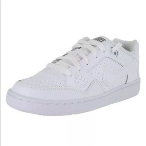Nike Air Force solid white 8 leather shoes